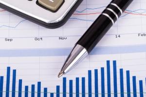 Financial Data Bar Chart Graphs and Analysis