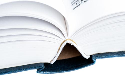 Shot of book spine
