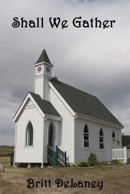 Small white country church with steeple
